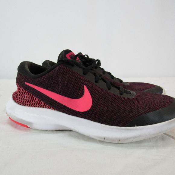 6bfb41ee58d3 Nike Flex Experience RN 7 Black Pink Running Shoe.  M 5c76c3e9c9bf50719323e308